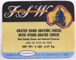 Washington D.C. - sýrová etiketa - cheese label