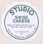 Missouri - sýrová etiketa - cheese label