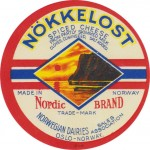 Norsko - sýrová etiketa - cheese label